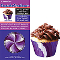 SIEGE CUPCAKE CREATIONS PURPLE SWIRL (32CT)