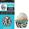 SIEGE CUPCAKE CREATIONS ZEBRA BLUE (32CT)